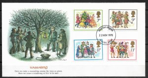 1978 Great Britain 847-50 Christmas C/S of 4 FDC