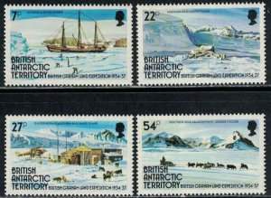 British Antarctic Territory 1985: #121-124 Graham Land Expedition NH Set