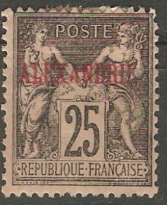 France Off Egypt Alex 9 Cer 11 MH F/VF 1900 SCV $7.50