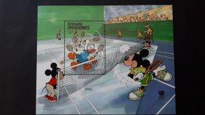 Disney - Grenada Grenadines 1988. - OI Seoul ** MNH Block/1