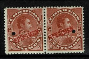 Venezuela 1893 5c red brown Specimen, Mint Never Hinged - S1426