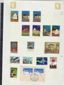 liechtenstein 1978/79 stamps page ref 17955