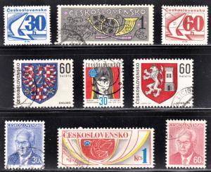 Czechoslovakia Scott 1976-77, 1985, 1995, 2000-01, 2035-36, 2048 CTO.
