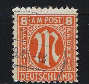 Germany AM Post Scott # 3N6a, used