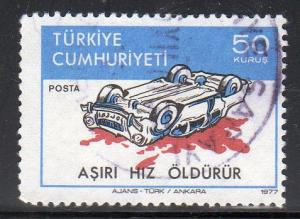 Turkey 2085 - Used - Wrecked Car (Type I) (cv $0.55)