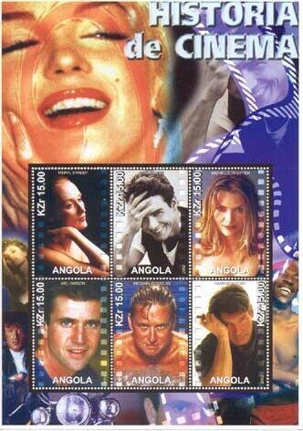 Cinema Stars Stamp Sheet M128
