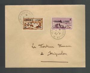 1942 St Pierre Miquelon Cover Local # 243 249