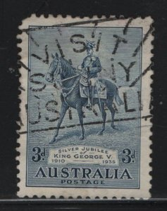 AUSTRALIA, 153, USED, 1935, GEORGE V ON HIS CHARGER ANZAC