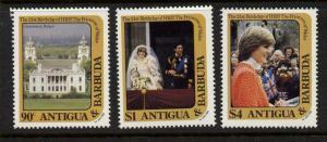 Antigua 663-6 MNH Princess Diana 21st Birthday, Greenwich Palace