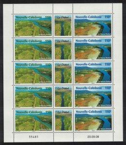 New Caledonia Fields River Bridge Delta Nature Sheetlet of 10v SG#1456-1457