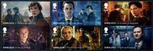 HERRICKSTAMP NEW ISSUES GREAT BRITAIN Sherlock Holmes Setenant Pairs