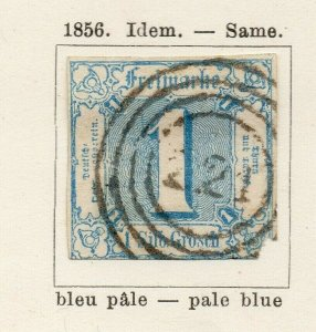 Tour & Taxis 1859-60 Early Issue Fine Used 1kr. NW-04569