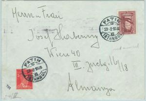 66947 - TURKEY - Postal History -   COVER  from FATIH to AUSTRIA 1940 - CENSORED