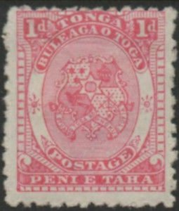 Tonga 1892 SG10 1d Coat of Arms MH