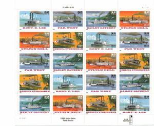 US 3091-5 - 32¢ Riverboats Unused