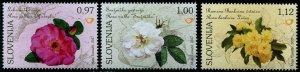 HERRICKSTAMP NEW ISSUES SLOVENIA Sc.# 1215-17 Roses