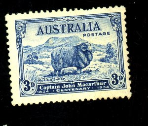 AUSTRALIA #148 MINT FVF OG HR CREASES Cat $15