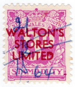 (I.B) Australia - NSW Revenue : Stamp Duty 3d (Walton's Stores)