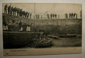 Vintage 1903 Landing the Catch Midleton Ireland Real Picture Postcard Cover
