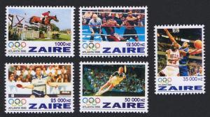 Zaire Olympic Games Atlanta 5v SG#1444-1448 SC#1444-1448 CV£6.25