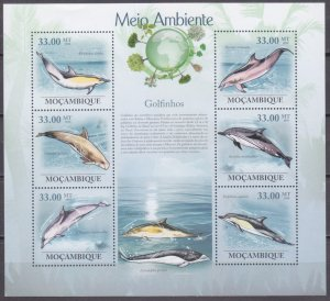2010 Mozambique 3608-13KL Dolphins 10,00 €