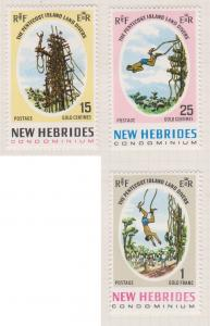 British New Hebrides Sc#135-137 MH