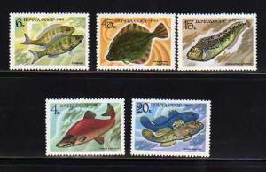 Russia MNH 5164-8 Food Fish 1983 SCV 2.30