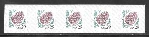 #2491 MNH Strip of 5
