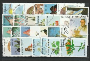 Sao Tome & Principe Topical Very Fine Used Stamps Lot Collection 15398