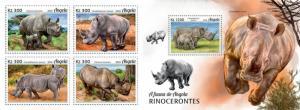 Z08 ANG18102ab ANGOLA 2018 Rhinos 4v MNH ** Postfrisch