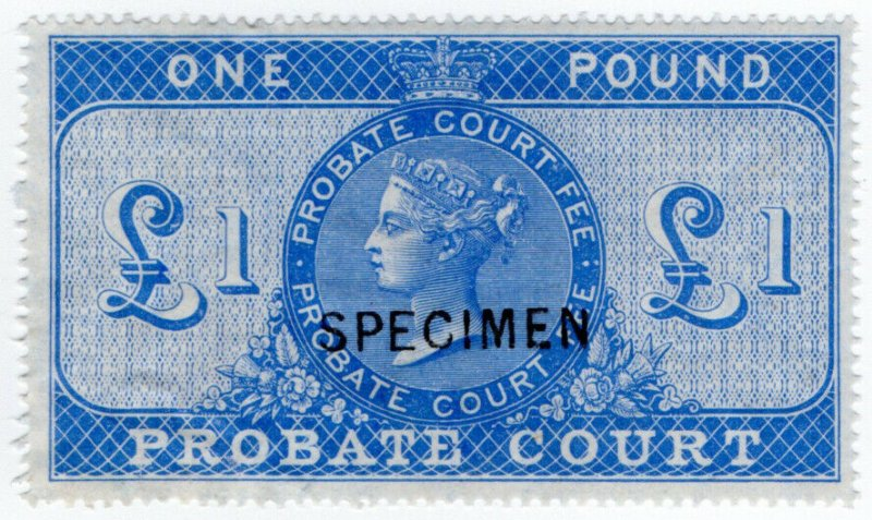 (I.B) QV Revenue : Probate Court £1 (specimen)
