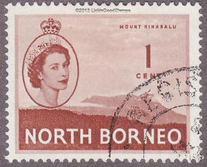 North Borneo 261 USED 1954 Mount Kinabalu