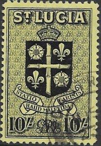 St Lucia  125  1938    10 sh . FVF  Used