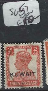 KUWAIT   (P2804B) ON  INDIA  KGVI    2A    SG 57   VFU
