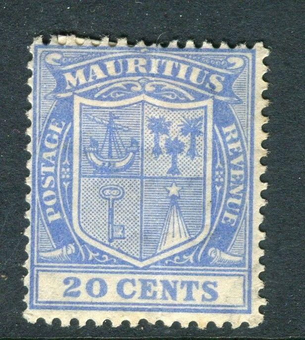 MAURITIUS; 1920s early issue Mint hinged 20c. value