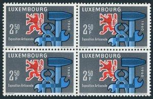 Luxembourg 361 bl./4,MNH.Mi 622. Exposition of Craftsmanship,1960.Heraldic Lion,