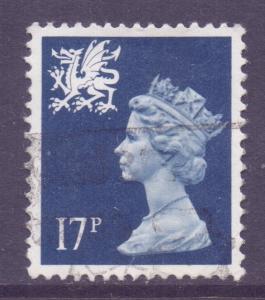GB Regional Wales, 1971 Machin 17p used