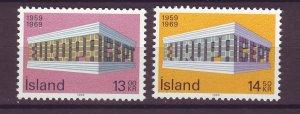 J25460 JLstamps 1969 iceland set mnh #406-7 europa
