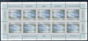 Latvia Sc 528 2001 Europa stamp sheet mint NH