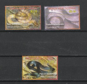 Papua New Guinea MNH 140-2 Snakes 2006