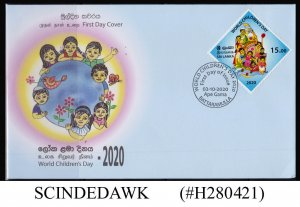 SRI LANKA - 2020 WORLD CHILDREN'S DAY FIRST DAY COVER
