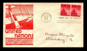 SC# 907 FDC / Anderson Cachet / Pair / Addressed - N477