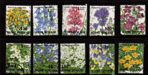 Finland - #941a - 941j  Wildlflowers set/10 - Used