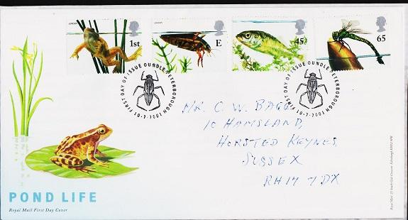 Great Britain. FDC.2001. Pond Life. Fine Used