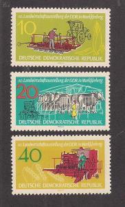 GERMANY - DDR SC# 611-13 F-VF LH 1962