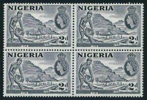 Nigeria 93 block/4,MNH.Michel 75a type I. QE II.Mining tin,1956.