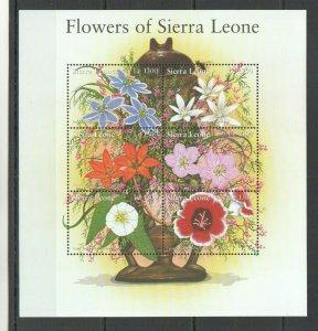 QQ253 SIERRA LEONE FLOWERS OF SIERRA LEONE FLORA 1KB MNH