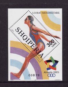 Albania-Sc#2772-unused NH sheet-Mediterranean Games-Sports-2005-