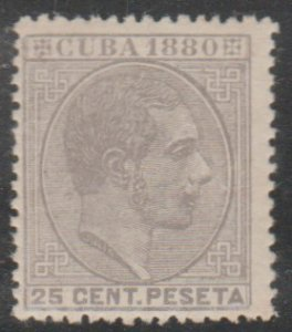 1880 Cuba Stamps Sc 91 King Alfonso Spain  NEW