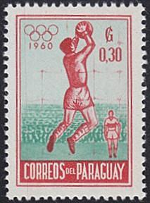 Paraguay # 556 hinged ~ 30¢ Soccer, Goalkeeper